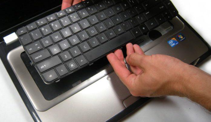 החלפת מקלדת למחשב נייד