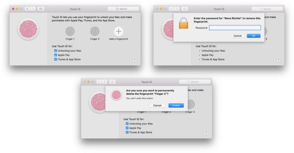כיצד למחוק ולהוסיף מחדש את טביעות האצבע במקבוק Touch ID שלך