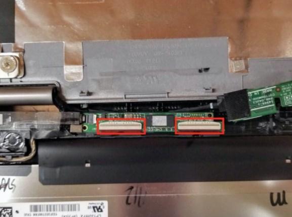 דיגיטיזר של מסך מגע במחשב נייד