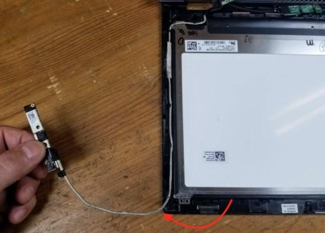 החלפת מצלמה במחשב נייד