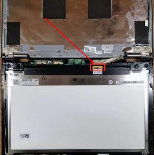 ניתוק כבל מסך במסך מגע דל