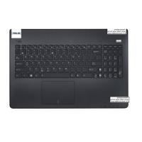 מקלדת למחשב נייד אסוס כולל תושבת פלסטיק ומשטח עכבר Asus X501 Front bezel cover touchpad with Keyboard 0KNB0-6103HE00